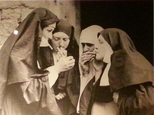 """Smoking nuns"" via Flickr user Christophe Becker"
