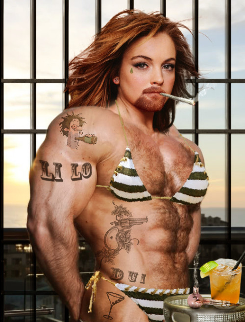 "Not THAT kind of prison workout, LiLo! (""Lindsay Lohan Prison Workout"" image by Flickr user Rob Tom)"
