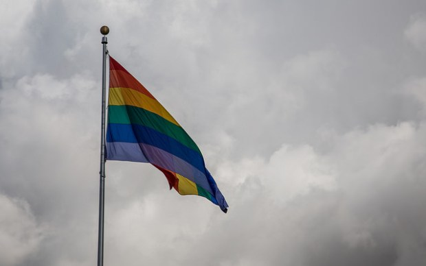 """Hillcrest Rainbow Flag"" image by Flickr user Tony Webster"