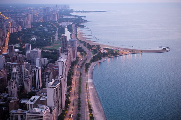 """Chicago Gold Coast: When the Morning Breaks"" image by Flickr user Roman Boed"