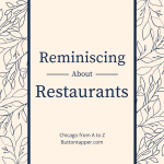 Reminiscing about restaurants #AtoZChallenge
