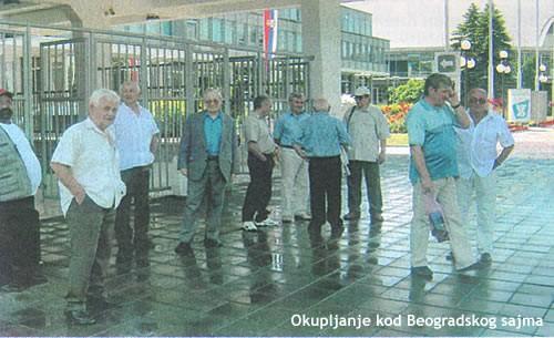 Okupljanje kod Beogradskog sajma