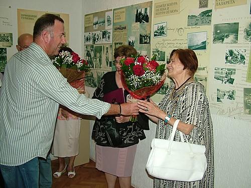 Direktor JUSD ''Crvena komuna'' Niko Perazić, autorka i prof. dr Anika Skovran