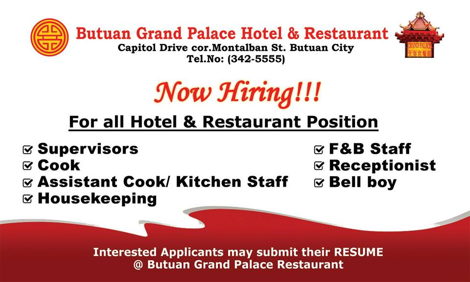 Butuan Grand Palace Hotel And Restaurant Opening Soon