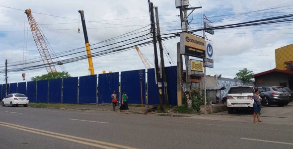 SM City Butuan with the Blue Fence Signals the Mammoth Construction Begins