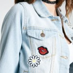 wet seat embroidered jean jacket