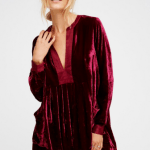 free people beet red velvet dress