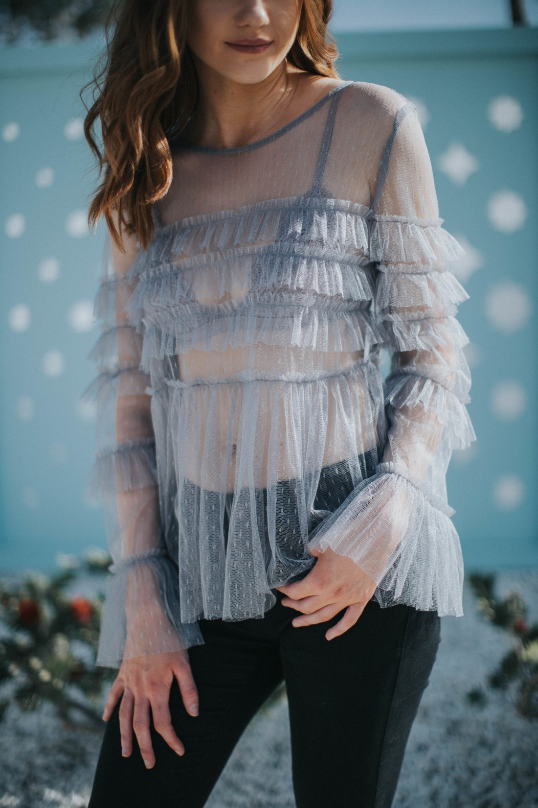But What Should I Wear - Mesh Top from ASOS - Ruffles and Mesh