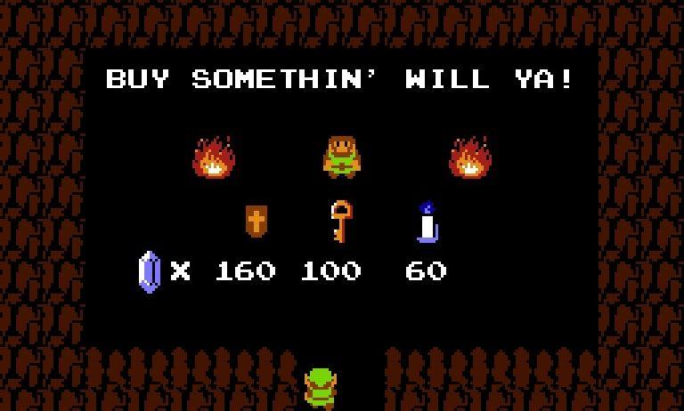 Zelda Dungeon Maker shop from Legend of Zelda