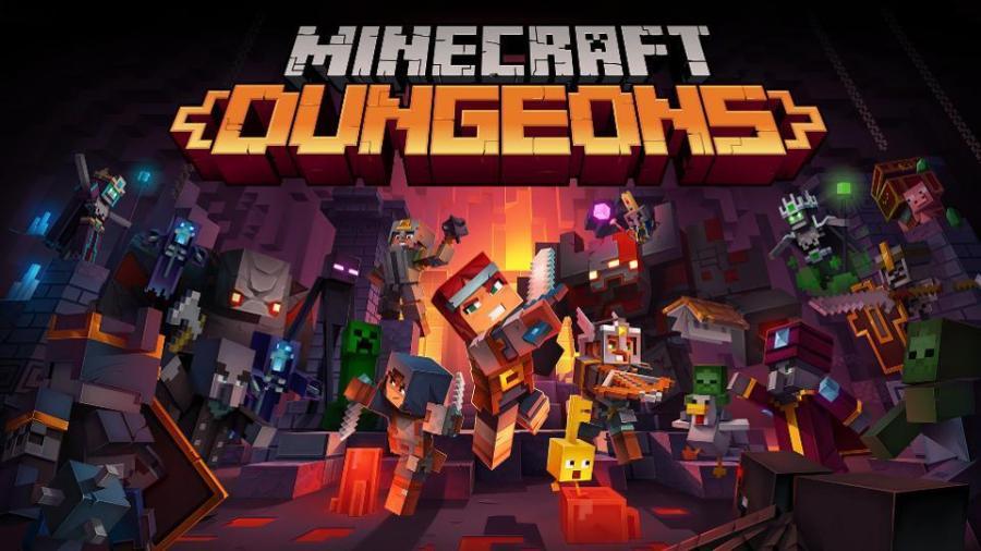 Minecraft Dungeons Title