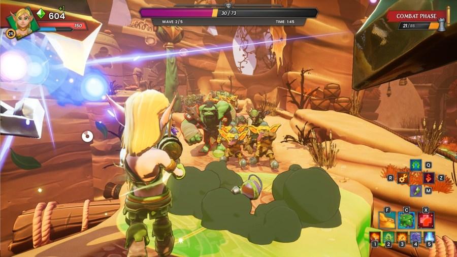 Huntress gameplay