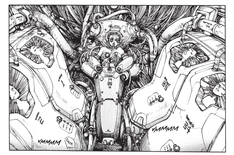 Cyberpunk manga Ghost in the Shell