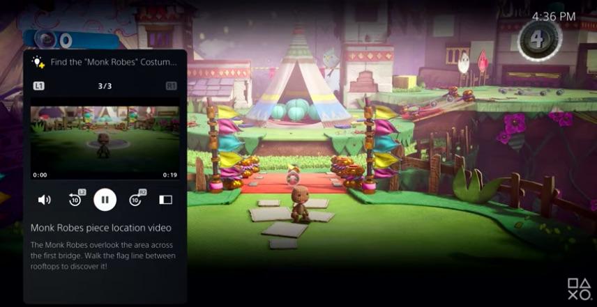 PlayStation 5 UI Example