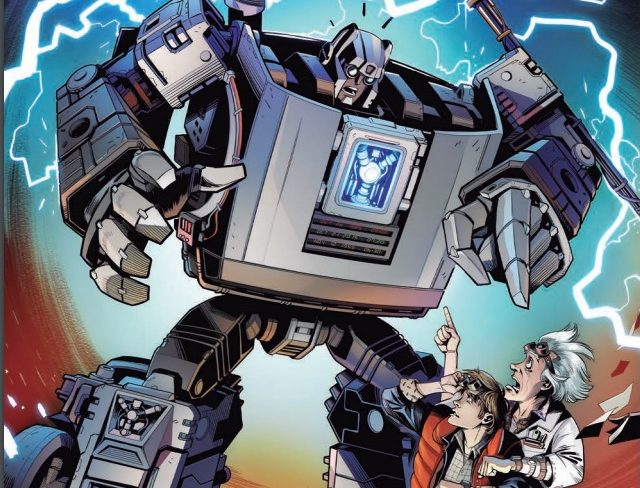 Transformers/Back To the Future #1 cover