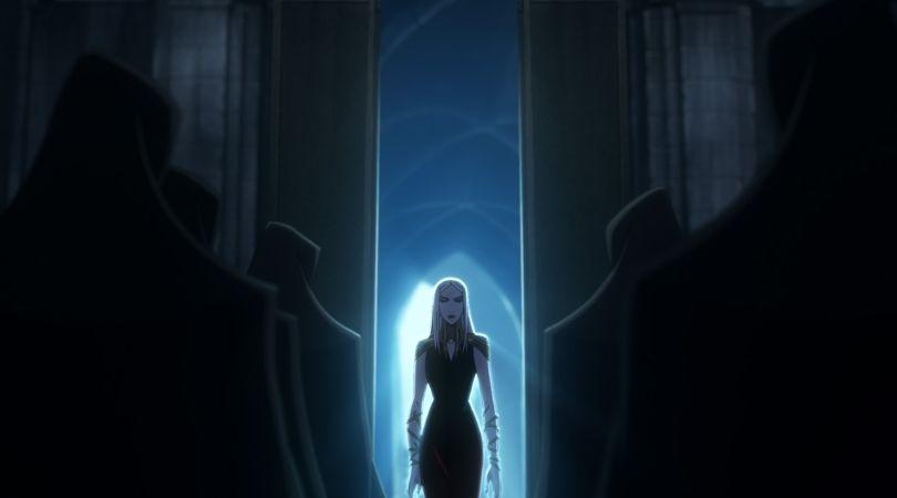 Carmilla in Castlevania Season 2 making a grand entrance into the series