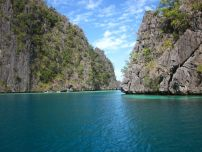 entrance to Kayangan Lake in Coron, Palawan, Philippines
