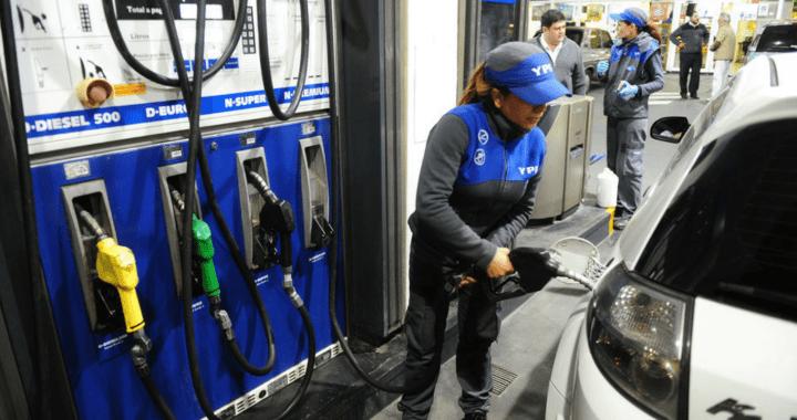 YPF subre los precios de los combustibles 2,5% promedio en todo el país