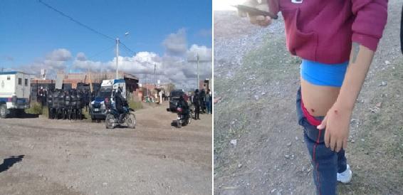 60 policías desalojaron violentamente a una familia y reprimieron a vecinos de Calixto Gauna