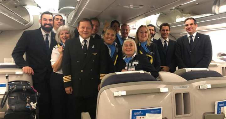 """""""Llevamos Italianos y repatriamos Argentinos"""": equipo voluntario de Aerolíneas Argentinas"""