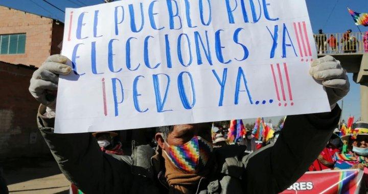 Bolivia: postergación de elecciones enciende reclamo contra Gobierno de Facto