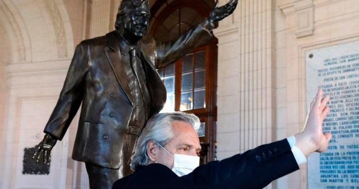 Alberto Fernández: «Mi deber es terminar la tarea que empezó Néstor y siguió Cristina»