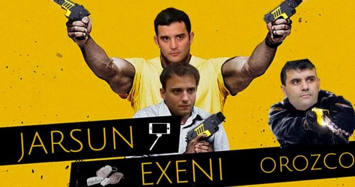Jarsún y Exeni y el dipu-policía Orozco quieren comprar pistolas Taser