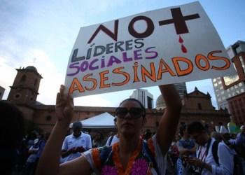Continúan los asesinatos de líderes sociales en Colombia