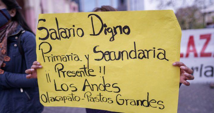 Cánepa elige el silencio, Posadas recibió a docentes y el paro sigue firme