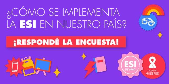 Educación Sexual Integral: la Fundación Huésped lanzó una encuesta online