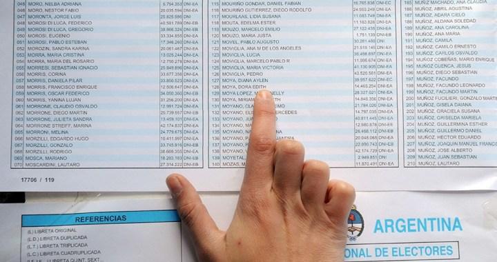 PASO: una de cada cuatro personas votará en un lugar distinto al de 2019