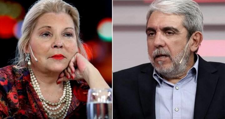 Aníbal Fernández cruzó a Lilita Carrió y la acusó de integrar «la mafia de la mesa judicial»