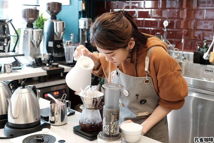 20210312111031 31 - 質感環境有著松綠色氛圍,孔雀咖啡,手沖咖啡配美味提拉米蘇!
