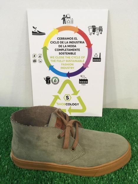 Zapato botín ecológico kaki