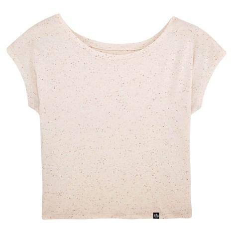 Camiseta holgada de algodón orgánico mandarina