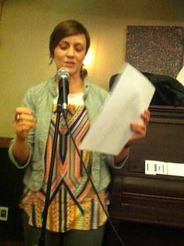 Carrie Bennett reading, March 2015