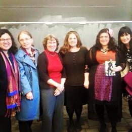 Somy Kim, Maria Zlateva, Sarah Hanselman, Jennifer Sia, author Randa Jarrar, Suzanne Westhues