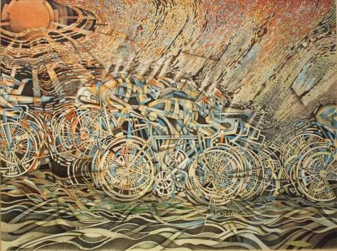 Cyclists in the Rain by Zen Zamojski