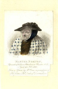 Martha Norton, upwards of 50 years the attendant at Buxton Well. Aged 90 Oct 1820. (D. Orme, engraved by Henry Robertson)