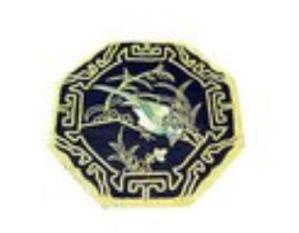10Crt Gold Thread Silk Embroidered Magpie Mat