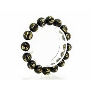 12mm Black Onyx Om Mani Padme Hum Bracelet1