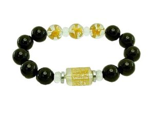 12mm Onyx 3 Zodiac Bracelet for Rabbit, Sheep, Boar