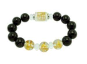 12mm Onyx 3 Zodiac Bracelet for Rat, Dragon, Monkey