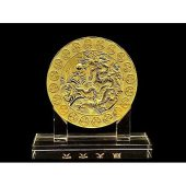 6 Heaven Gold Coins with Dragon Plaque1