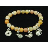 8mm Yellow Jasper Crystal Bracelet with Auspicious Charms1