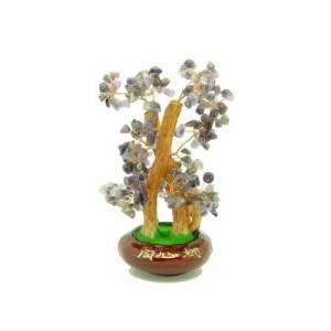 Amethyst Quartz Crystal Feng Shui Gem Tree1