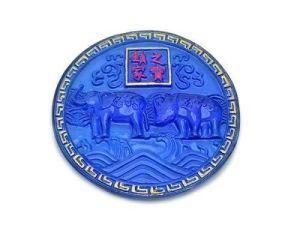 Anti Burglary Blue Rhino and Elephant Plaque