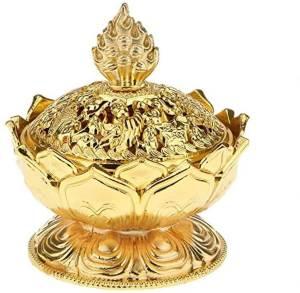 Auspicious Golden Lotus Incense Burner