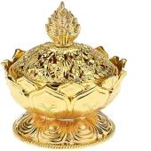 Auspicious Golden Lotus Incense Burner