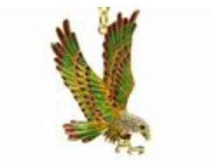 Bejeweled Flying Eagle Keychain