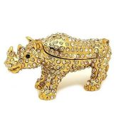 Bejeweled Wish Fulfilling Double Horn Rhinoceros Jewelry Box1